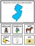 New Jersey State Symbols themed Positional Word Game. Preschool Game