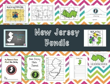 New Jersey Themed Bundle- 11 resources