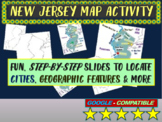 State of New Jersey Map Activity- fun, engaging, follow-along 25-slide PPT