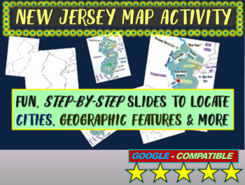 State of New Jersey Map Activity- fun, engaging, follow-al