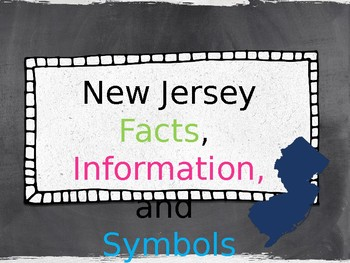 New Jersey symbols and facts