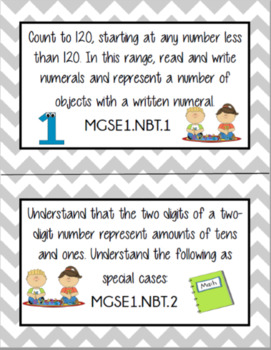 New Kid Friendly 1st Grade Georgia Standards of Excellence