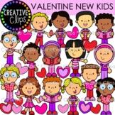 New Kids Valentine Clipart {Valentine Kids Clipart}