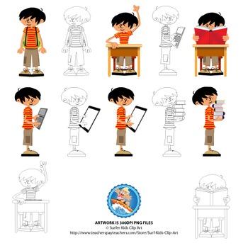 Boy in Classroom setting - Alistair Set 1