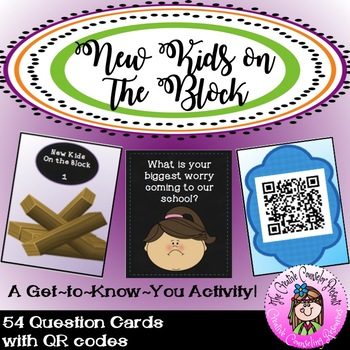 QR Code New Kids on the Block New Student Get 2 Know You Tumble Blocks Card Game