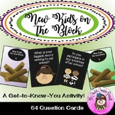 New Kids on the Block New Student Get to Know You Tumble Blocks Card Game