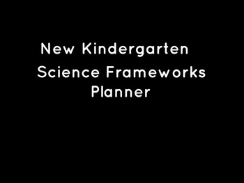 New Kindergarten Science Standards Table with Materials Checklist