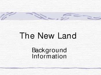 New Land - Native American Lit - Early american notes