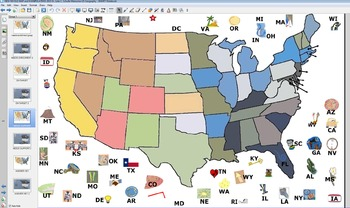 New: Learn50Fast Whole Map SmartNotebook/Prometheum/ Inspire Lesson