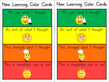 Student Self-Assessment Pinch Cards