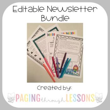 Editable Newsletter Bundle
