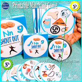 """Letter N Sound Matching Game SHOUT OUT; Spot the Match; 3"""" & 5"""" cards"""
