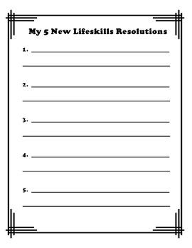 New Lifeskills Resolutions