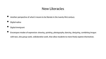 New Literacies, Technology in the Classroom 2