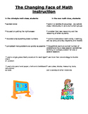 New Math Instruction for parents