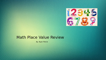 New! Math Place Value Review PPT With Questions