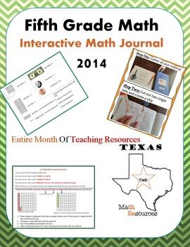 STAAR 5th grade math Interactive Math Notebook- (2014)