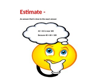 Math TEKS 5.3A Estimating Vocabulary and Word Wall Cards