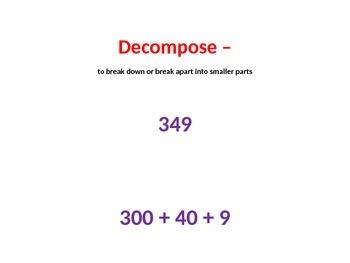 Math TEKS 5.3G Dividing Decimals Word Wall and Vocabulary Cards