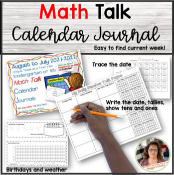 New!!! Math Talk Calendar Journal for Kindergarten (Forever License)