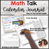 New!!! Math Talk Calendar Journal for Kindergarten (Foreve