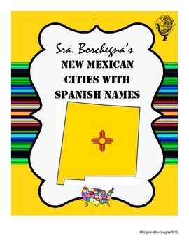 New Mexican Cities with Spanish Names - 4 pages with puzzles