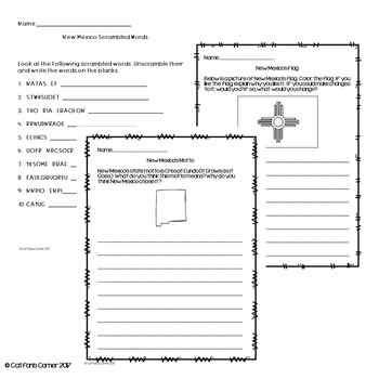 New Mexico Activity Packet
