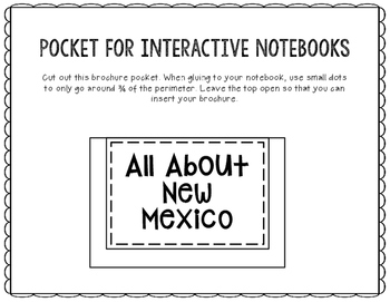 New Mexico - State Research Project - Interactive Notebook - Mini Book