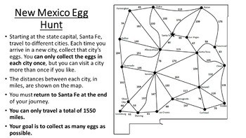 New Mexico Easter Math Activity