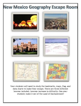 New Mexico Escape Room - Geography Maps Landmarks Data and More