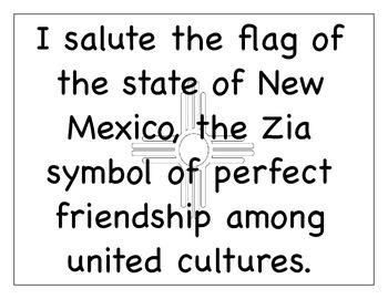 New Mexico Flag Salute
