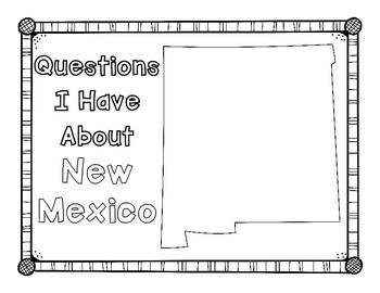 New Mexico Graphic Organizers (Perfect for KWL charts and geography!)