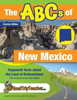 New Mexico Handwriting Printables - Cursive Edition