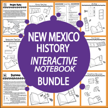 New Mexico History Interactive Bundle – SEVEN New Mexico State Study Lessons!