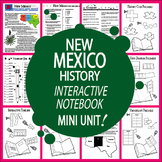 New Mexico History State Study Interactive Notebook Unit + AUDIO