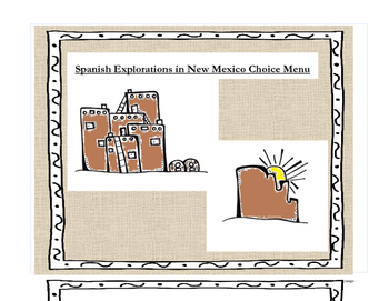 New Mexico History:  Spanish Explorations Choice Menu