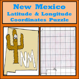 New Mexico Latitude and Longitude Coordinates Puzzle - 10 Points to Plot - FREE!