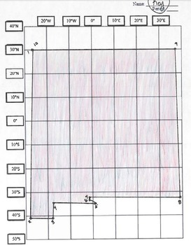 New Mexico Latitude and Longitude Coordinates Puzzle - 10 Points to Plot - FREE!