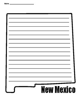 New Mexico Outline Lined Paper