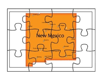 New Mexico Puzzle Map Activities