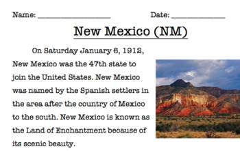 New Mexico Reading Comprehension