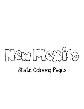 New Mexico State Coloring Page