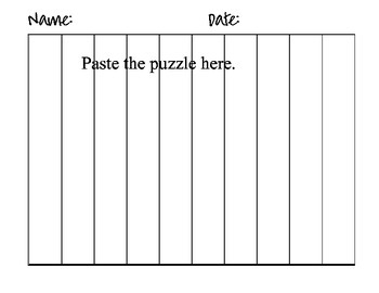 New Mexico State Counting Map Puzzle