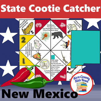 New Mexico State Facts and Symbols Cootie Catcher Fortune Teller