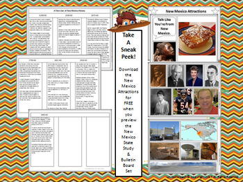 New Mexico State Study & Bulletin Board Set