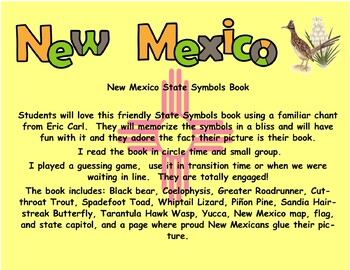 New Mexico State Symbols Student Book