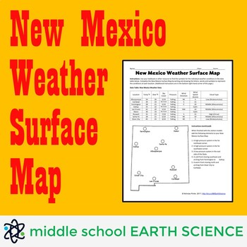 Weather Surface Map Activity for New Mexico
