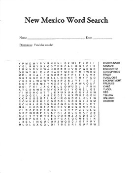 New Mexico Word Search