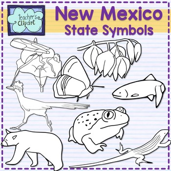 New Mexico state symbols clipart