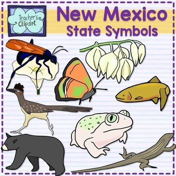 New Mexico state symbols clipart